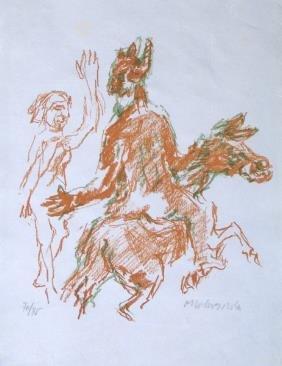 Oskar Kokoschka Original LITHO Austrian Art