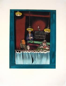 Moreno Pincas Original S&N ETCHING Israeli Art
