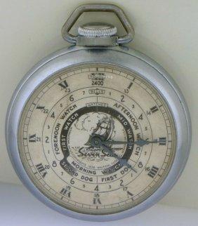 E. Ingraham Seven Seas Pocket Watch