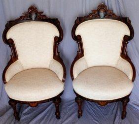 Pair Pottier & Stymus Victorian Renaissance Revival