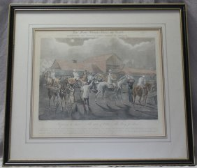 19th C. After Henry Aiken Hand Colored Etching