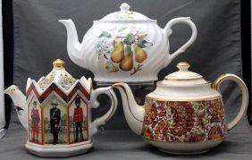 3 Vintage English Teapots Sadler & Arthur Wood