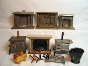 Vintage Dollhouse Fireplaces And Stoves