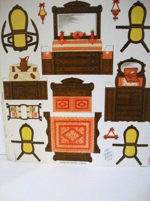1 paper dollhouse furniture lot 1 - Paper furniture ...