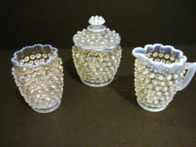 Child's Opalescent Hobnail Table Set