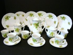 Child's German Tea Set With Holly