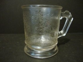 Child's Rare Santa Claus Clear Mug