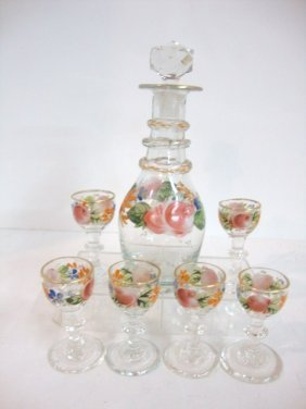 Child's  Blown Glass Wine Set