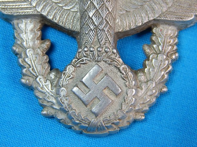 German Germany WWII WW2 Police Eagle Nazi Hat Pin Badge