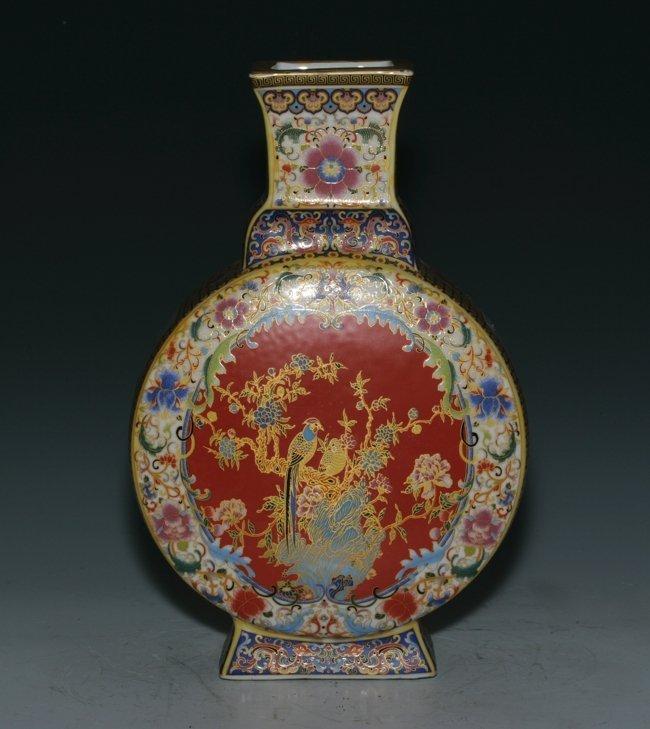 Pottery Moon-Shape Vase : Lot 24