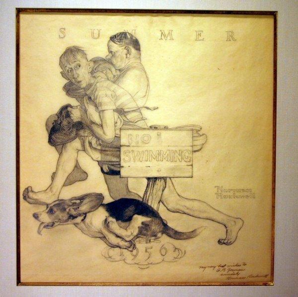 Norman Rockwell Original Pencil Drawings Img0 1