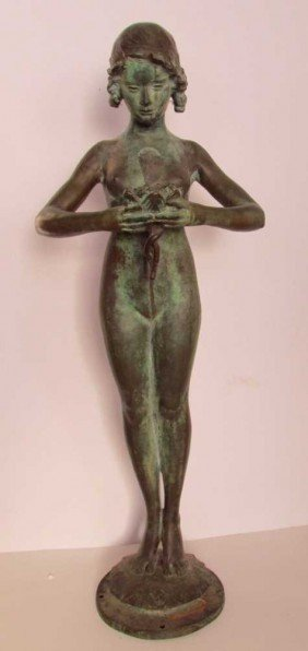 Mabel Conkling (1871-1966) Bronze Fountain Figure