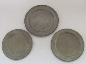Group Three Early English Pewter Plates
