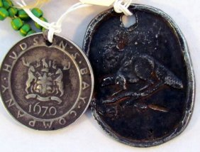 Two Hudson Bay Trading Medals