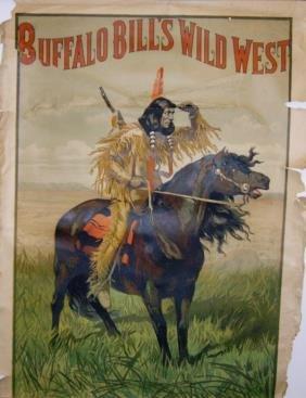 Rare Buffalo Bill's Wild West Lithograph Poster