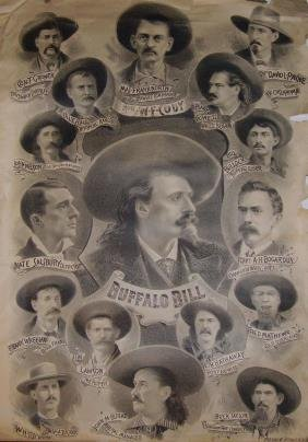 Rare Buffalo Bill Lithograph Poster