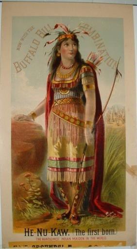 Rare Buffalo Bill Combination Lithograph Poster