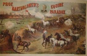 Prof. Bartholomew's Equine Paradox Lithograph Poste