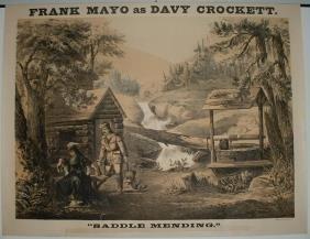 Frank Mayo As Davy Crockett Lithograph Poster