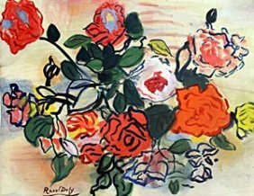 Flowers - Oil Painting - Raoul Dufy