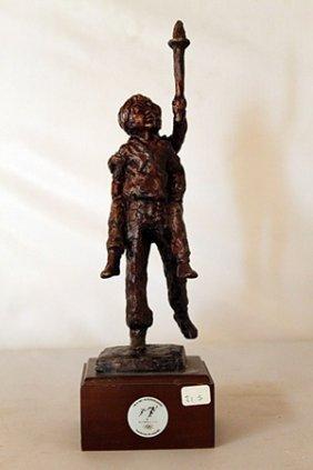 The Torch - Bronze Sculpture - Dennis Smith