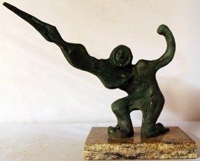 Patina Bronze Sculpture - David Alfaro Siqueiros