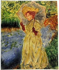Woman With Yellow Hat - Claude Monet