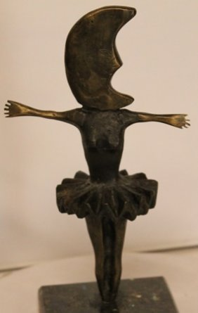 Danicing Moon - Bronze Sculpture - Sergio Bustamante