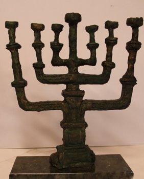 Menorah - Patina Bronze Sculpture - Salvador Dali