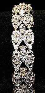 Very Fancy White Sapphires Sterling Silver Bracelet.