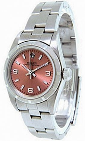 Oysterperpetual Rolex W/ Salmon Color Dial