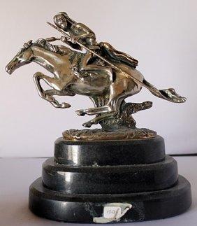 Cheyenne - .999 Silver - Old Cast Frederic Remington