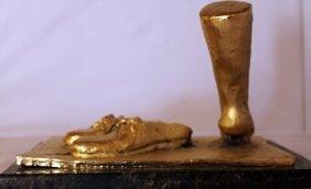 Gold Over Bronze Sculpture - Salvador Dali