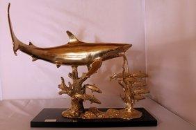 Shark Reef - Gold Over Bronze Sculpture - Spi