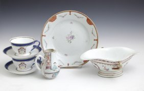 Group Of Seven Pieces Of Chinese Export Porcelain, 18th