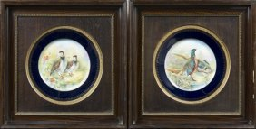 Pair Of Porcelain Plates, Late 19th C., Probably
