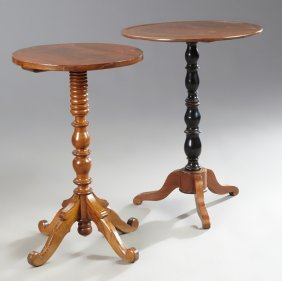 Two French Louis Philippe Carved Walnut Pedestal