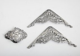 Three Sterling Desk Items, Early 20th C., Consisting Of