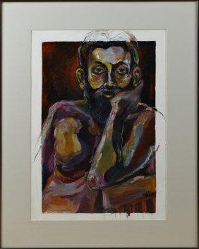 "Sandra Halat (north Carolina), ""portrait Of A Seated"