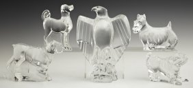 Baccarat Crystal Paperweights, 20th C., Consisting Of
