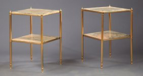 Pair Of French Louis Xvi Style Brass Patinated Iron