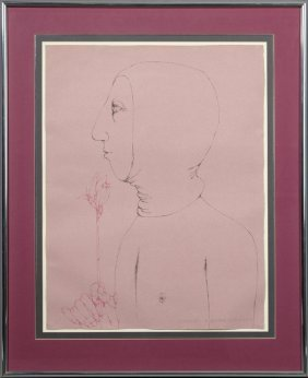 "American School, ""clemens,"" 1974, Graphite And Crayon,"