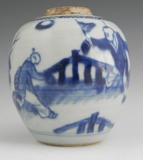 Chinese Porcelain Ginger Jar, 19th C., The Sides With