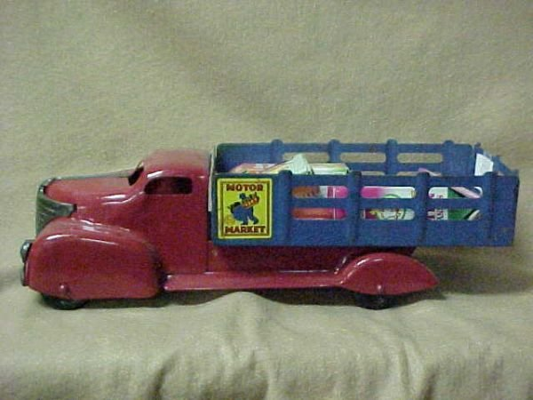 3027 1940 39 S Motor Market Delivery Truck Marx Toys Lot