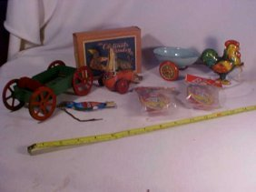 Lot Of Early Misc. Tin Toys