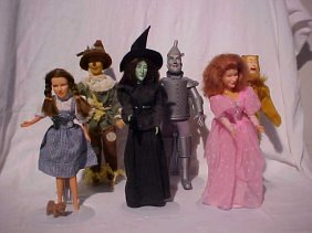 Lot Of 6 Wizard Of Oz Character Dolls