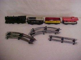 Marx 4 Car Train Set W/track