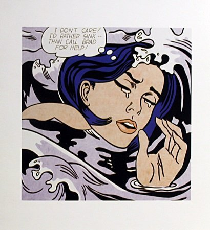drowning girl roy lichtenstein essay Drowning girl, lovers comparision essay in drowning girl roy lichtenstein uses colour, language and dominance in order to create a very lonely, sad melodramatic feel to the painting whilst ren magritte tries create a mysterious.