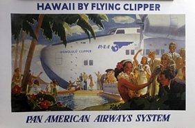 Print - Pan American Airways, Hawaii By Flying Clipper