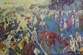 Print Paddock At Chantilly - Leroy Neiman
